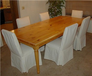 pine custom table