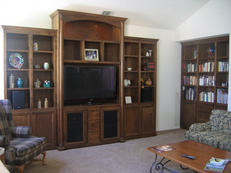 ecenter and bookcase
