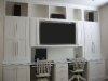 white ecenter and desk