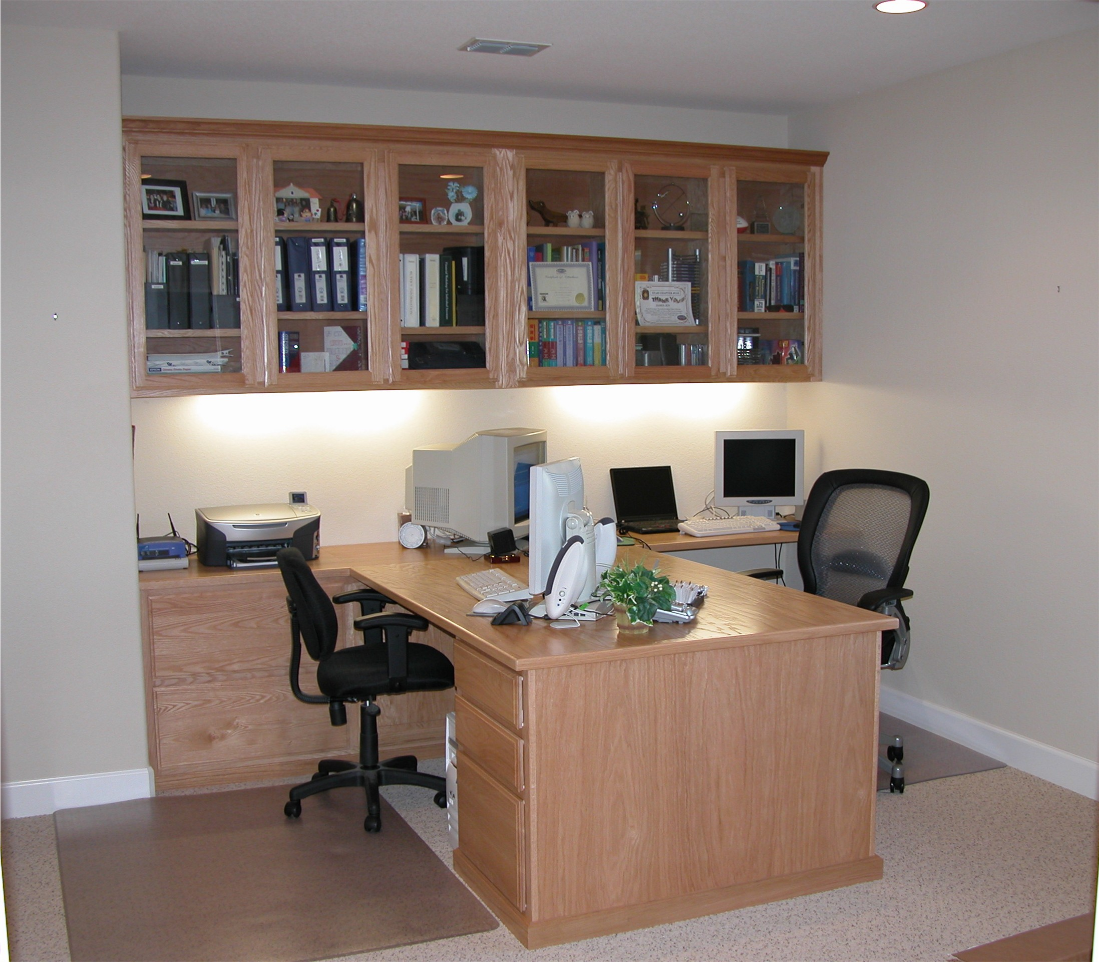 oak home office