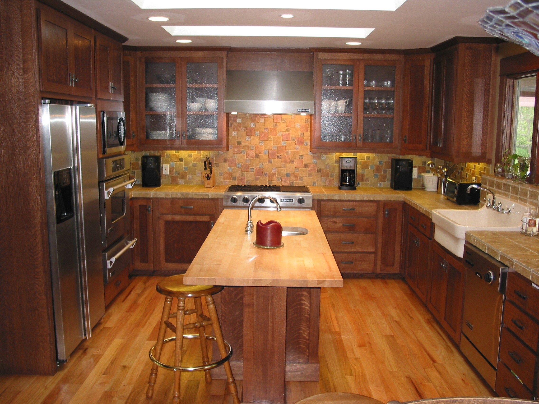 quarter sawn oak-kitchen